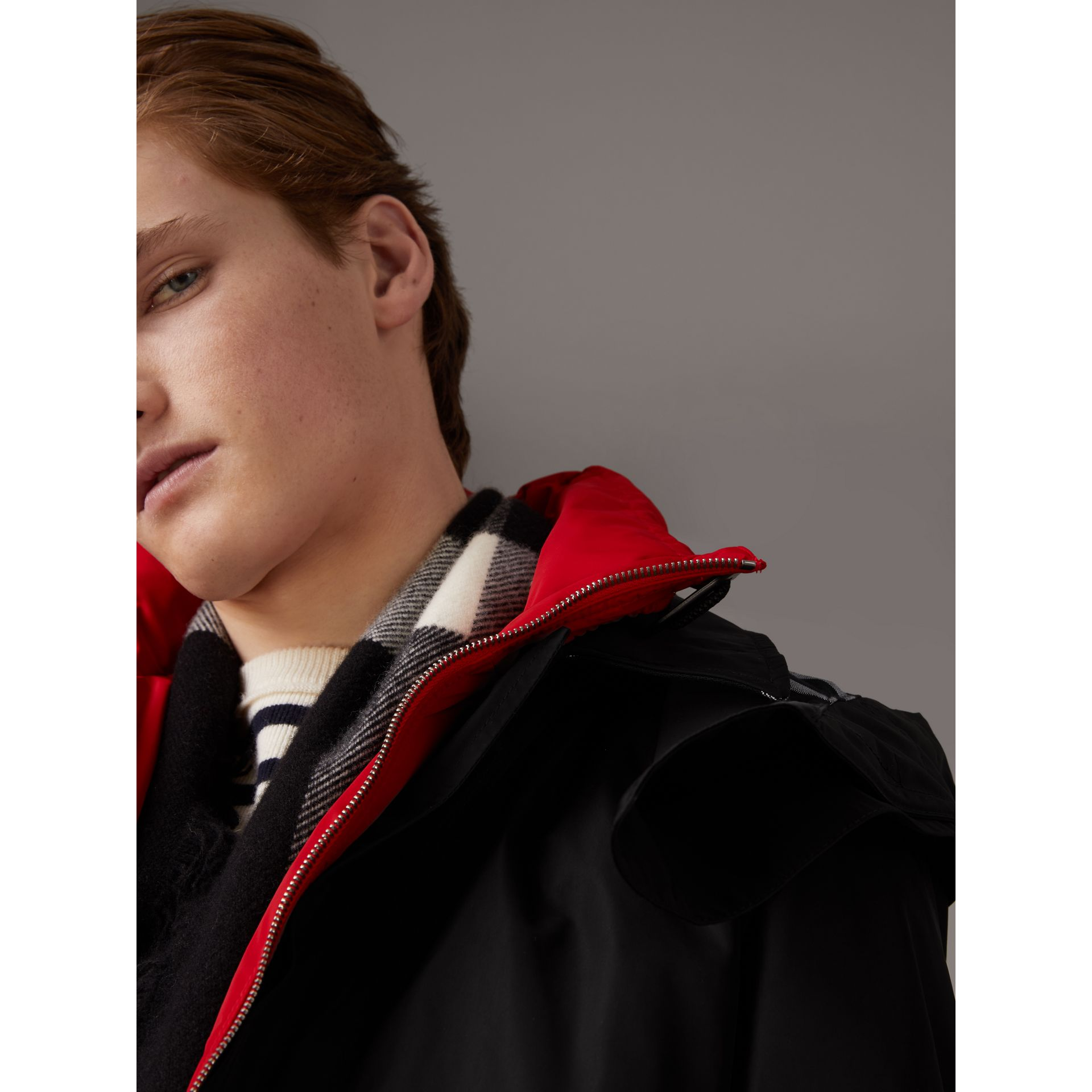 Taffeta Coat with Detachable Hood and Gilet in Black - Men | Burberry United States - gallery image 5