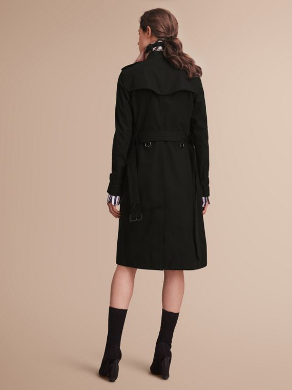 The Kensington – Extra-long Heritage Trench Coat in Black - cell image 2