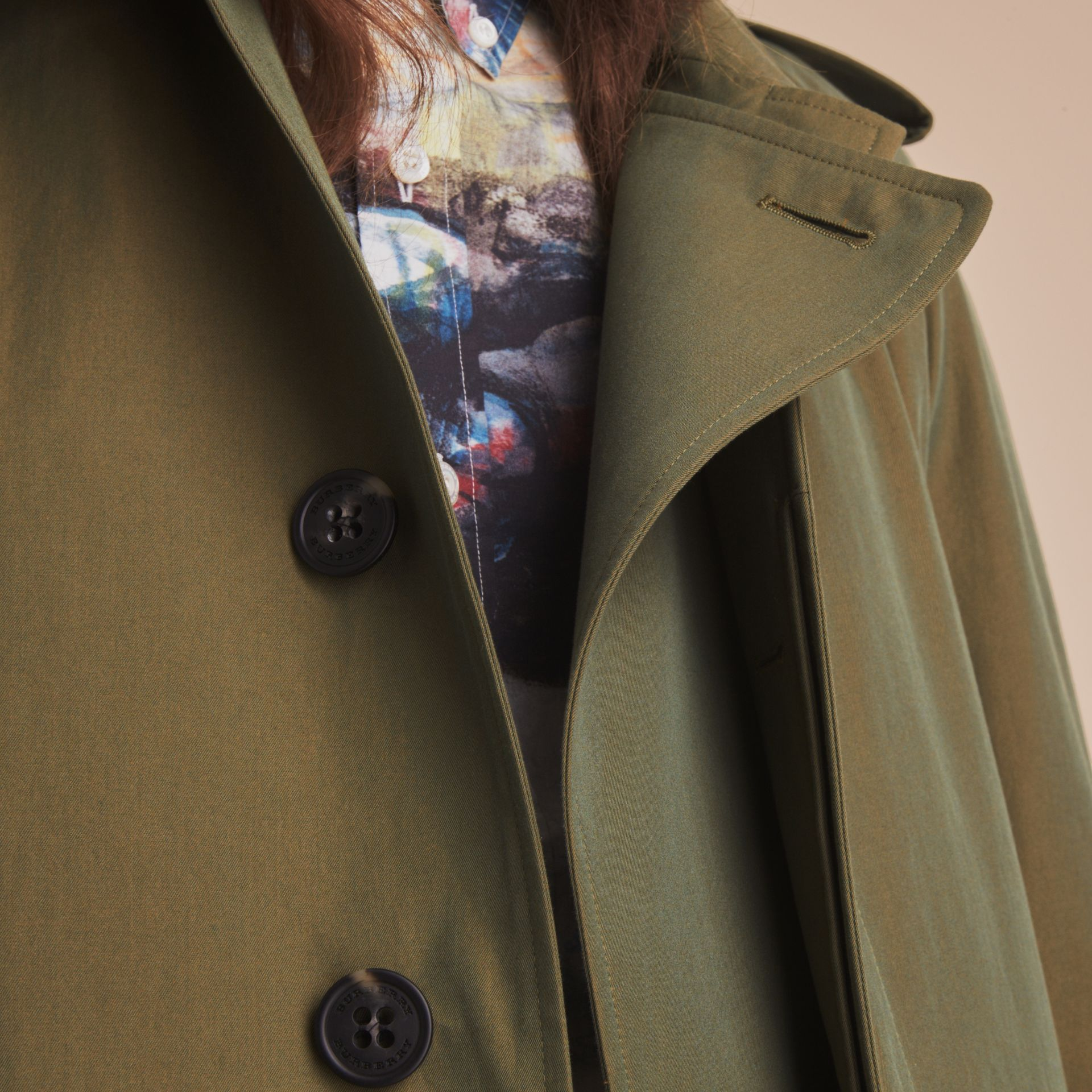 Oversize Storm Shield Tropical Gabardine Trench Coat - gallery image 6