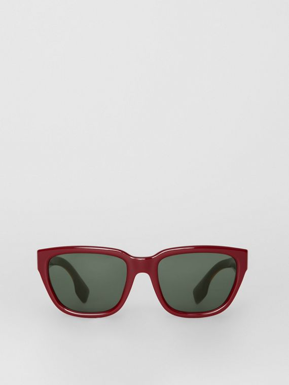 Square Frame Sunglasses in Burgundy