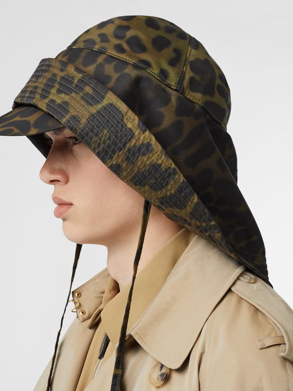 Animal Print Rain Hat in Light Green - Men | Burberry - cell image 3