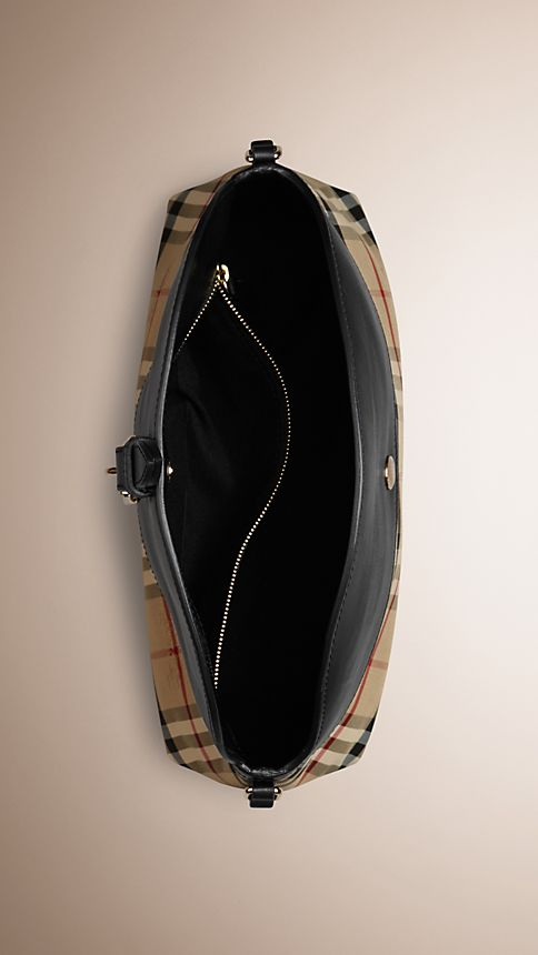 Honey/black Small Horseferry Check Clutch Bag - Image 5