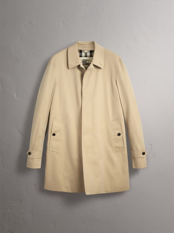 Cotton Gabardine Car Coat in Honey - Men | Burberry - cell image 3