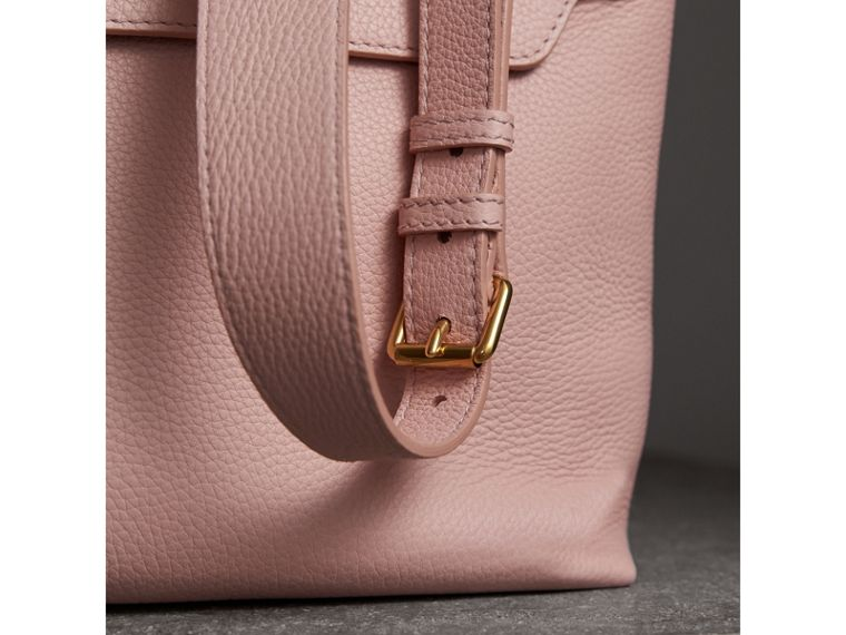Medium Embossed Leather Messenger Bag in Pale Ash Rose - Women | Burberry United Kingdom - cell image 1