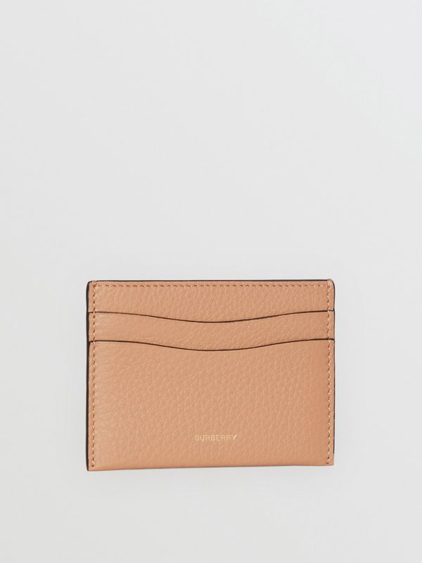 Grainy Logo Leather Card Case in Light Camel - Women | Burberry - cell image 3