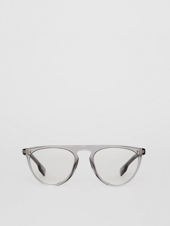 Keyhole D-shaped Optical Frames in Grey
