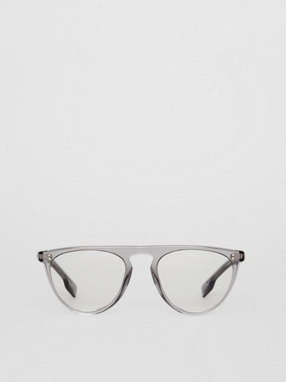 Полукруглая оптическая оправа (Серый)