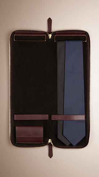 Étui à cravates en cuir grainé