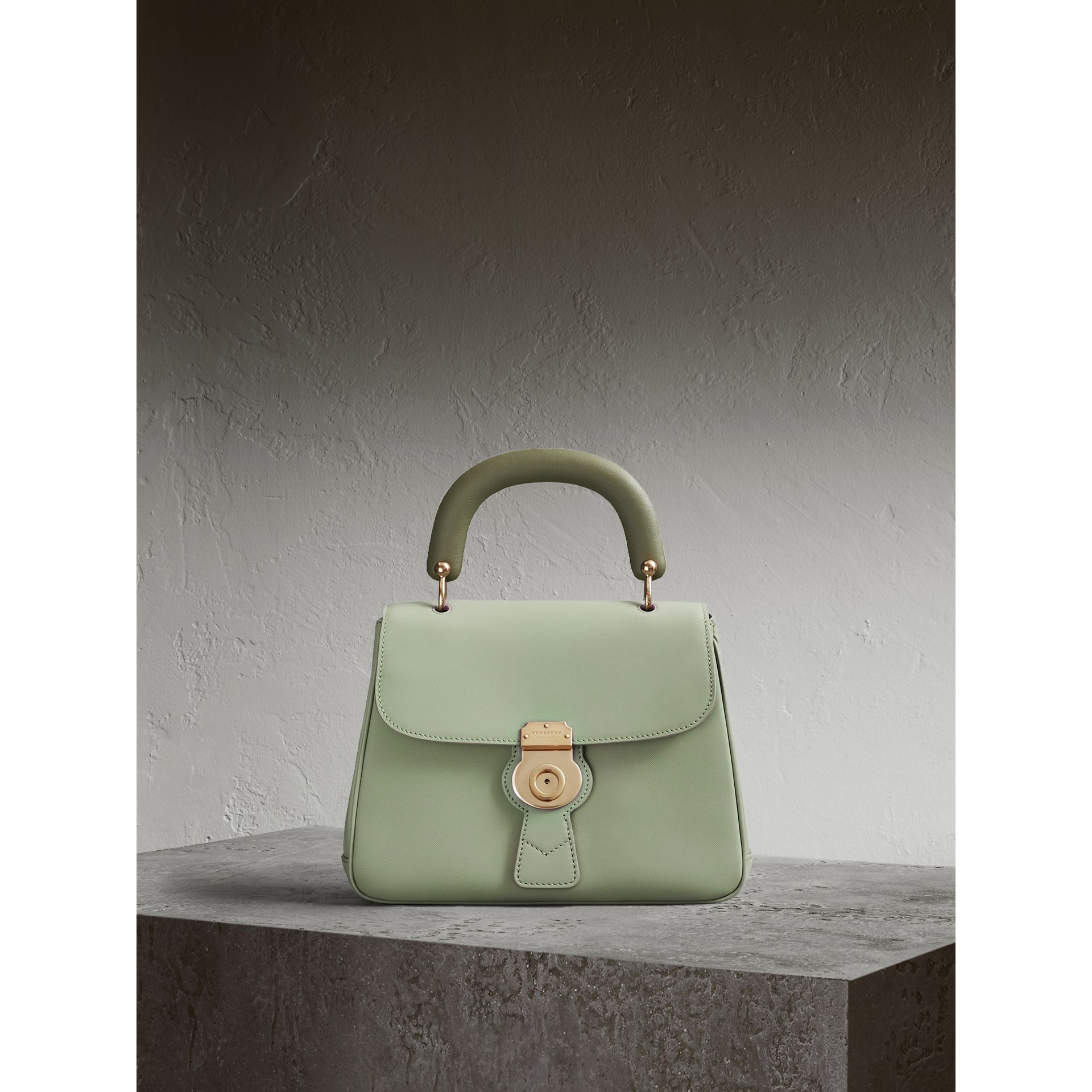 The Medium DK88 Top Handle Bag in Celadon Green - Women | Burberry - gallery image 1