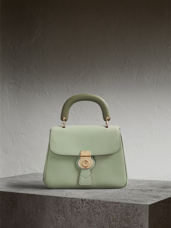The Medium DK88 Top Handle Bag in Celadon Green - Women | Burberry