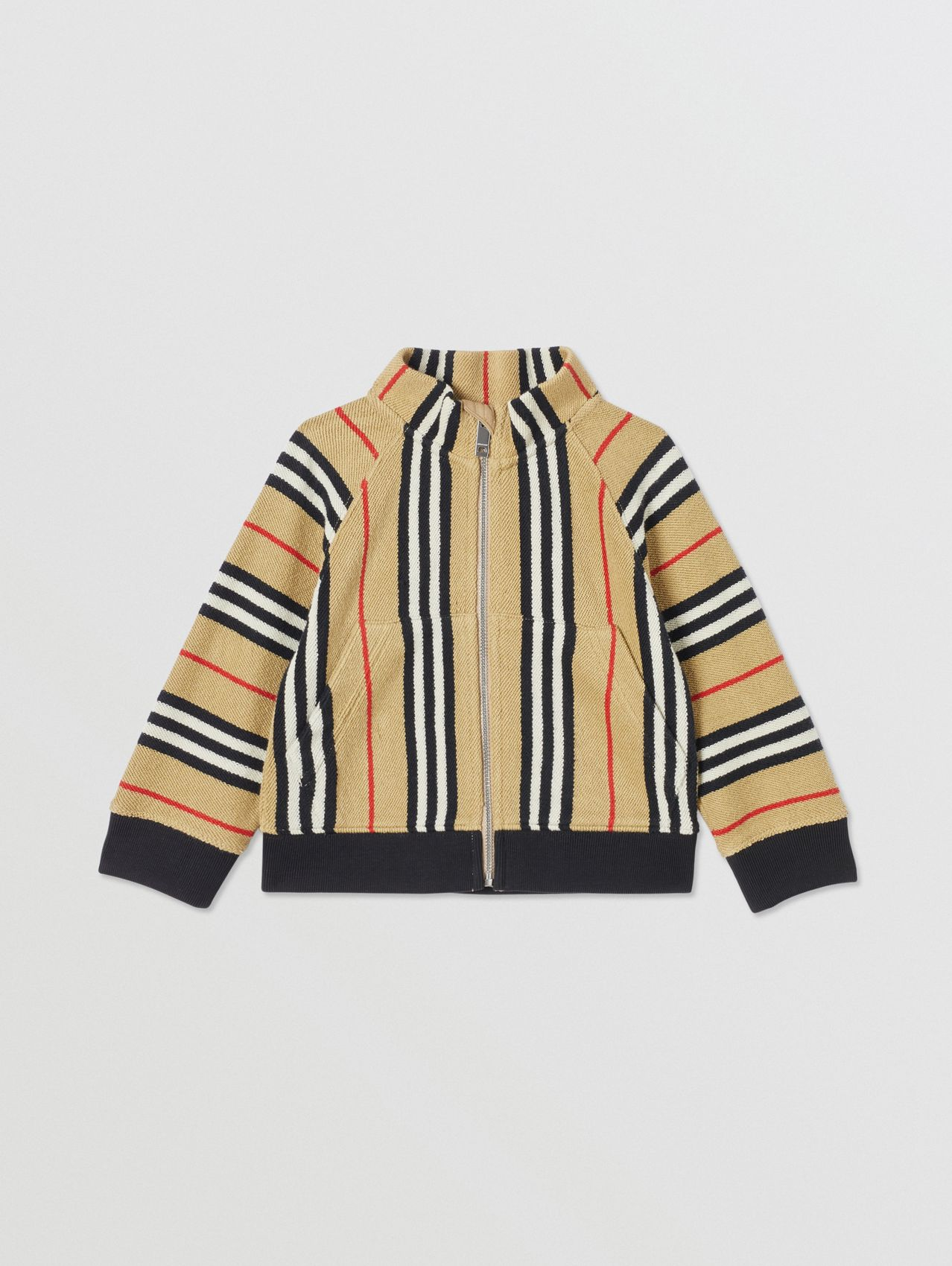 Icon Stripe Cotton Track Top (Archive Beige)