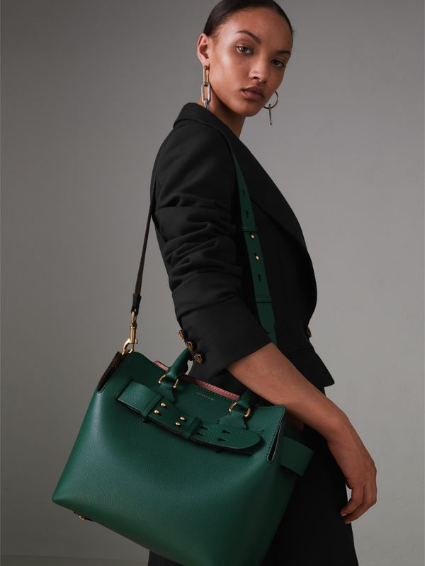 The Small Leather Belt Bag in Dark Cyan - Women | Burberry Australia - cell image 3