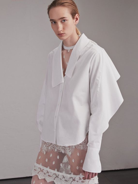 Sculptural Stretch Cotton Shirt