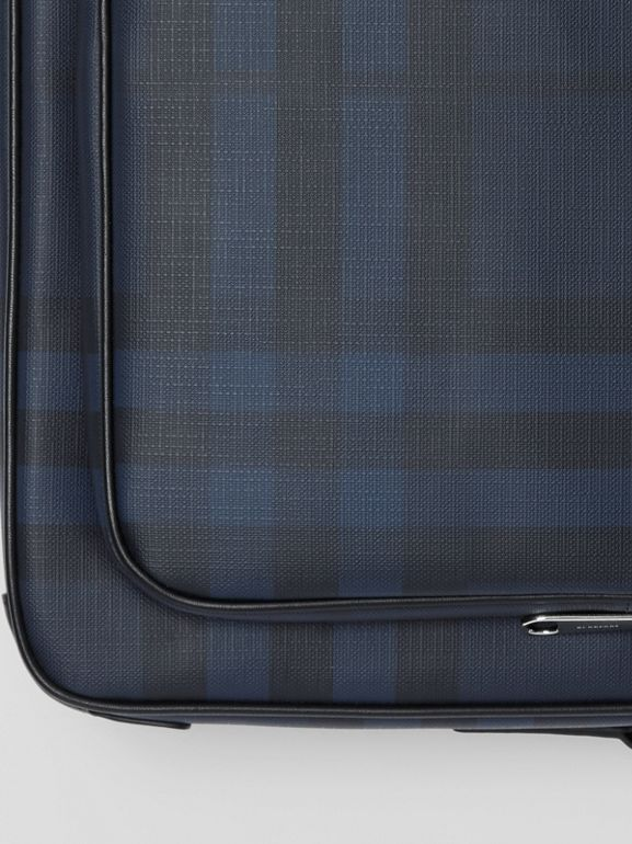 London Check Messenger Bag in Navy/black - Men | Burberry Hong Kong - cell image 1