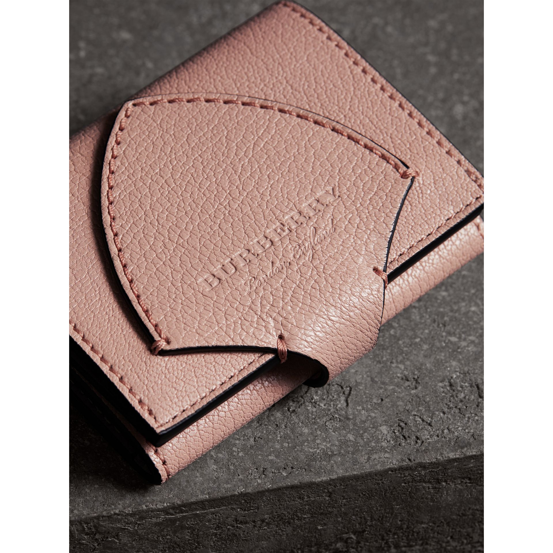 Equestrian Shield Leather Continental Wallet in Pale Ash Rose - Women | Burberry Hong Kong - gallery image 1