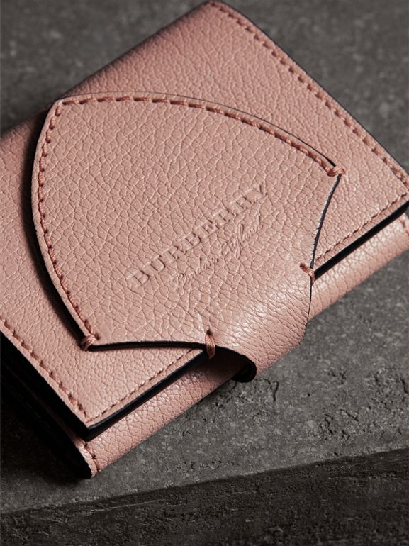 Equestrian Shield Leather Continental Wallet in Pale Ash Rose - Women | Burberry United Kingdom - cell image 1
