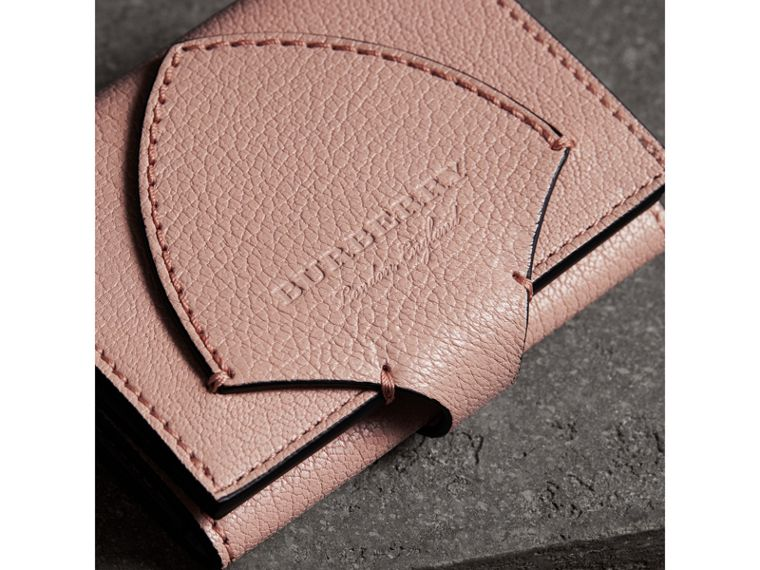 Equestrian Shield Leather Continental Wallet in Pale Ash Rose - Women | Burberry - cell image 1