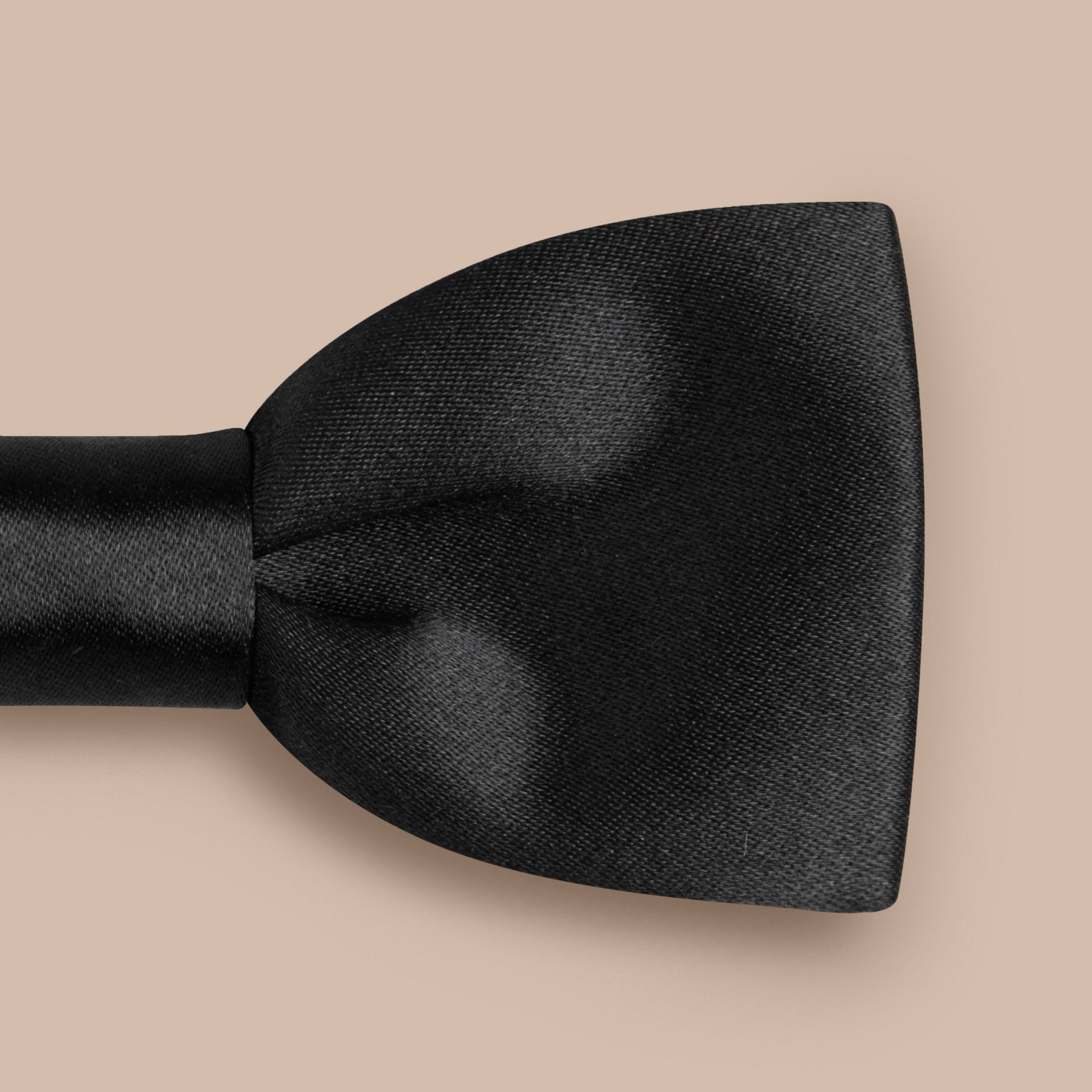 Classic Silk Bow Tie in Black - Men | Burberry - gallery image 2