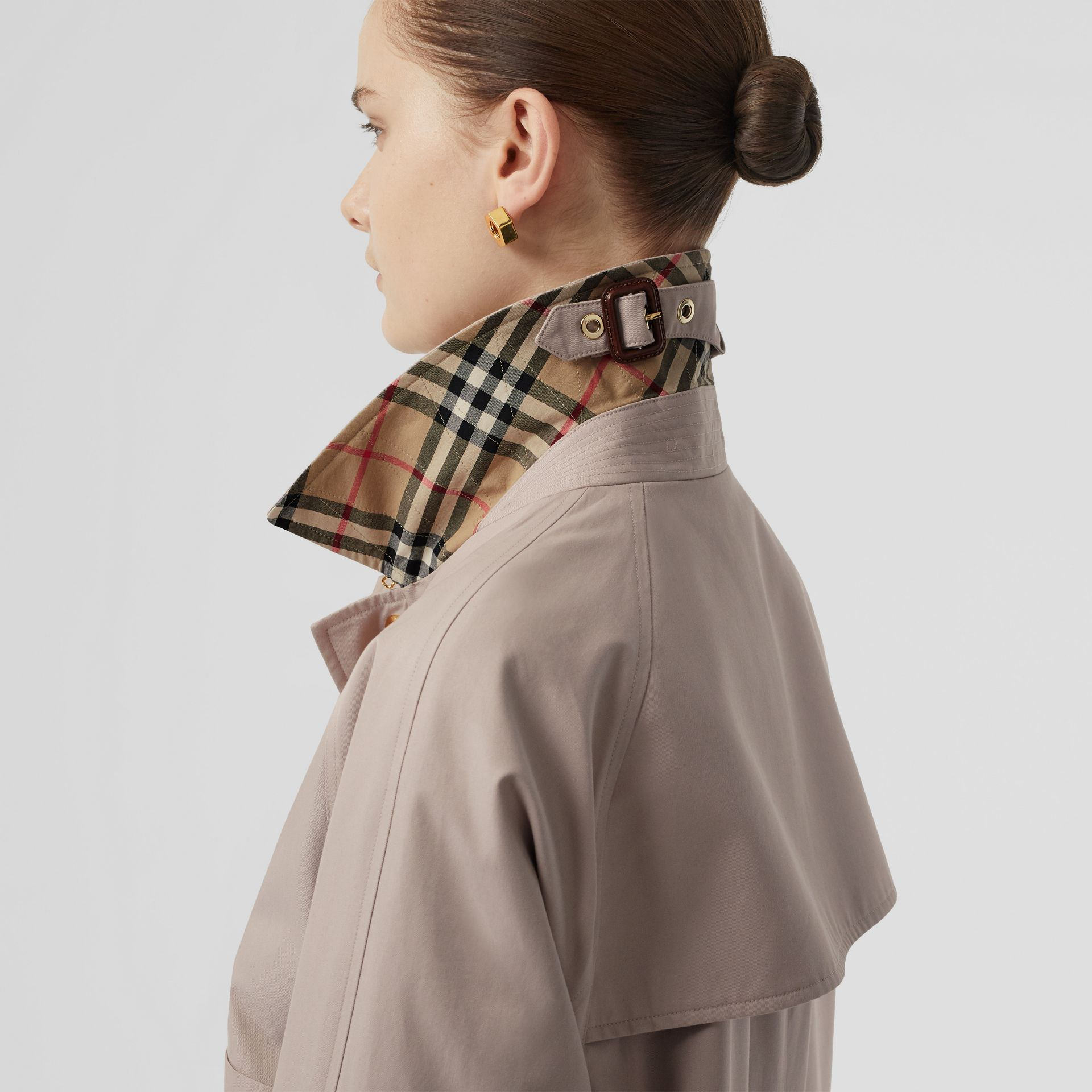 Cotton Gabardine Car Coat in Pale Blush - Women | Burberry United States - gallery image 5