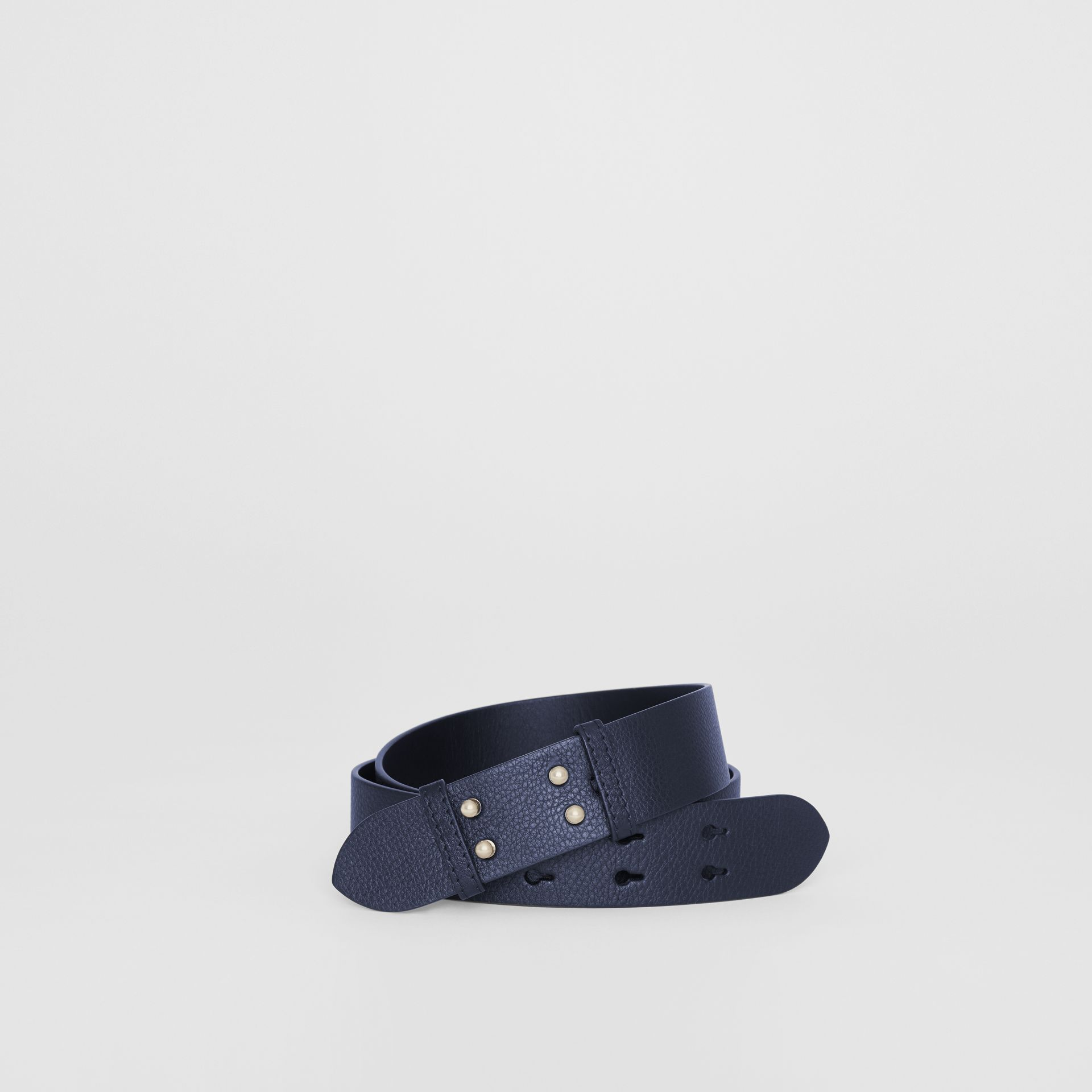 The Small Belt Bag Grainy Leather Belt in Regency Blue - Women | Burberry - gallery image 0