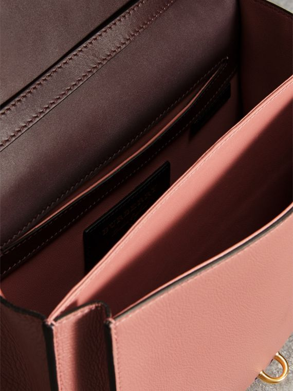 Two-tone Leather Crossbody Bag in Dusty Rose/deep Claret - Women | Burberry Australia - cell image 3