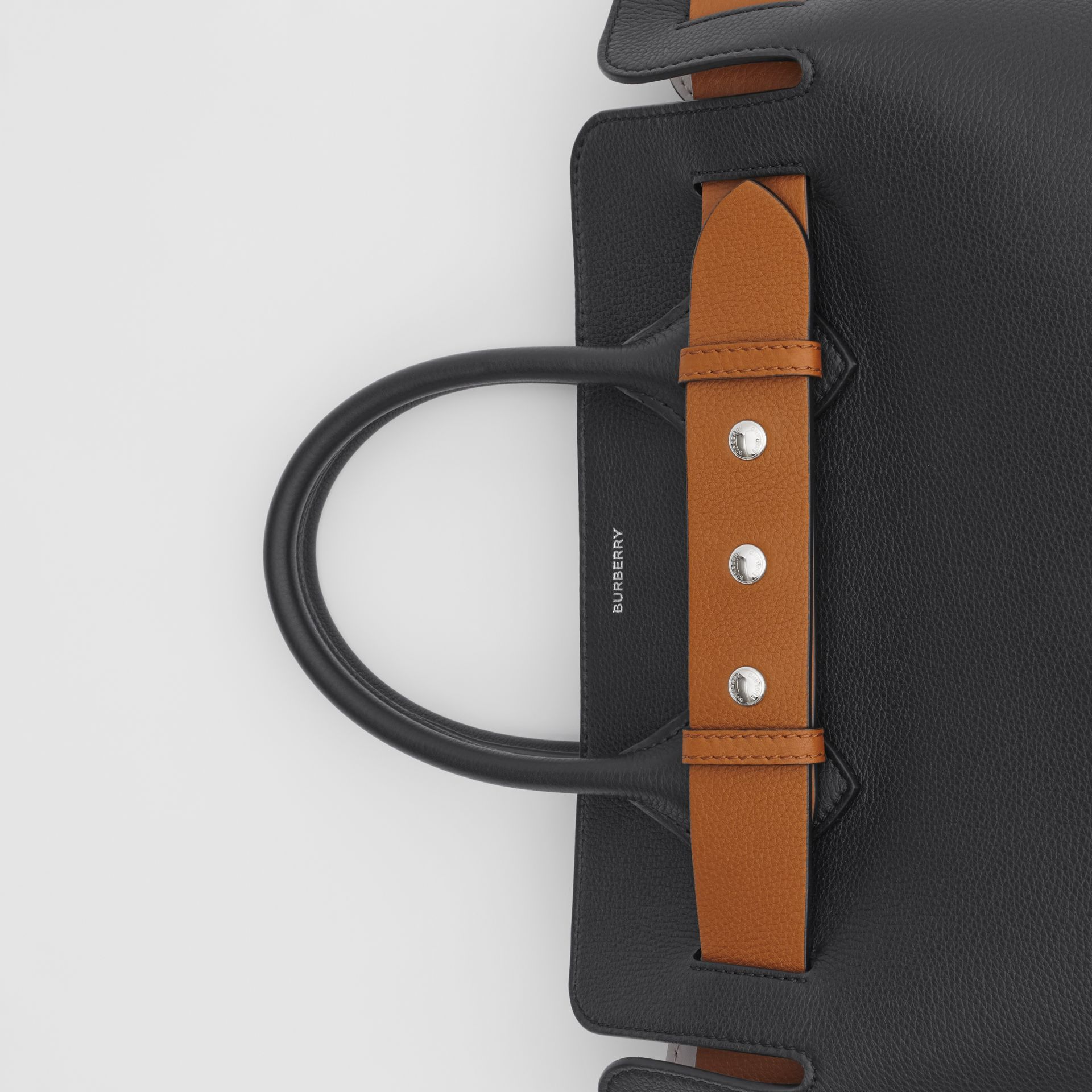 The Small Leather Triple Stud Belt Bag in Black - Women | Burberry Australia - gallery image 1