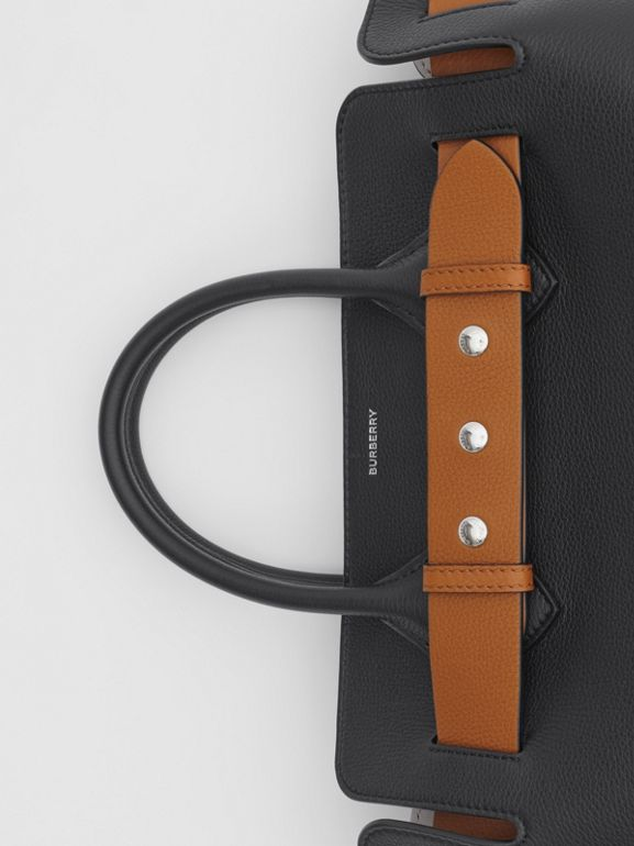 The Small Leather Triple Stud Belt Bag in Black - Women | Burberry Singapore - cell image 1