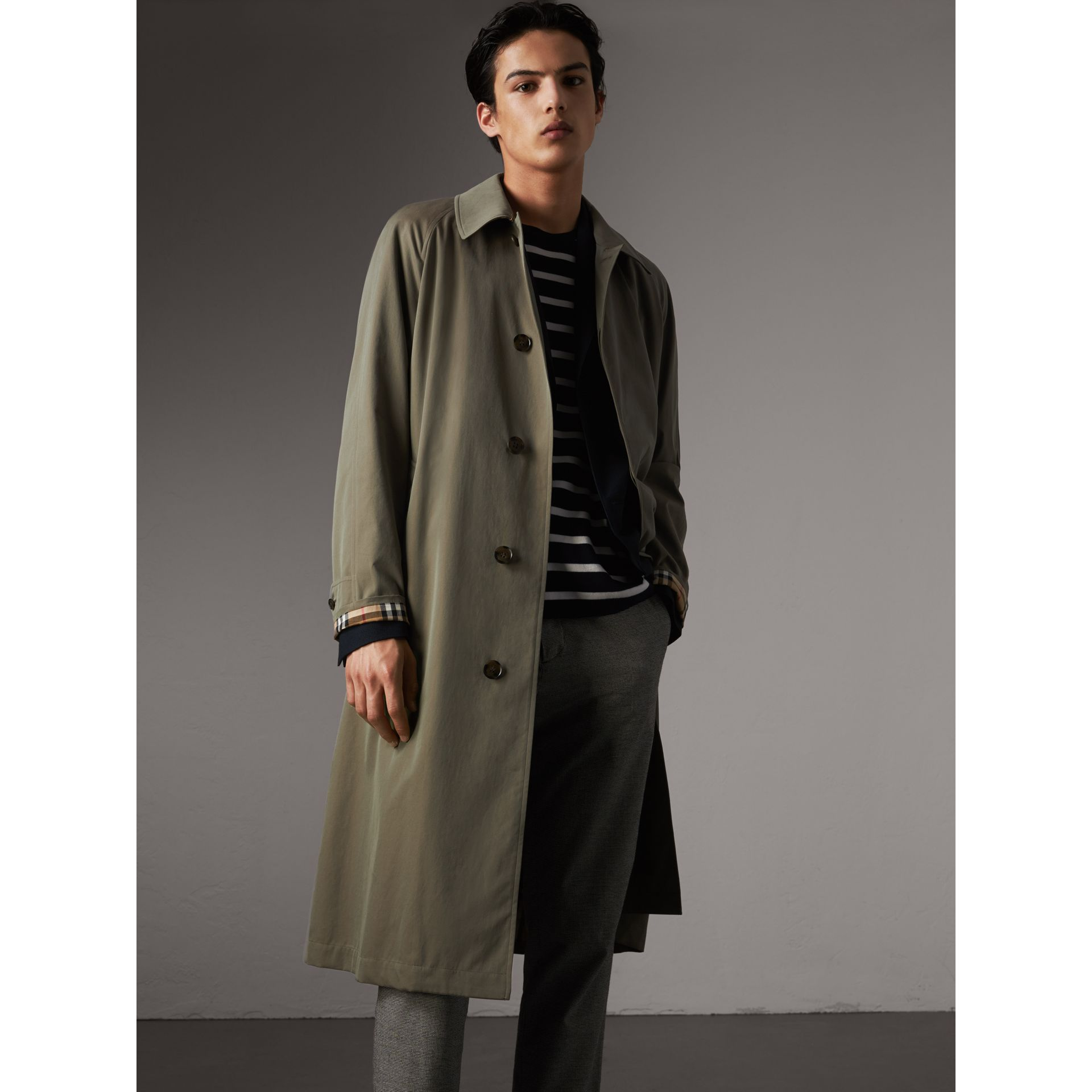 The Brighton – Longline Car Coat in Chalk Green - Men | Burberry - gallery image 6