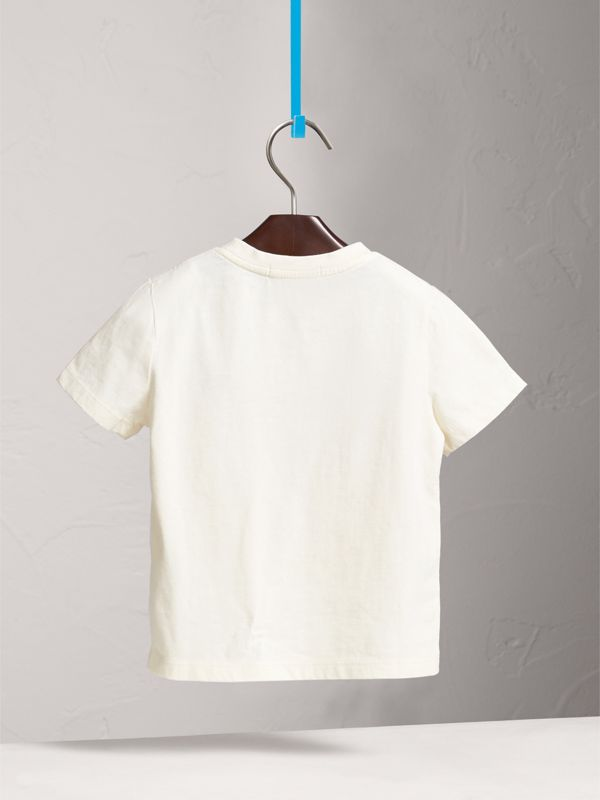 T-shirt in cotone con motivo London Icons (Bianco Naturale) | Burberry - cell image 3