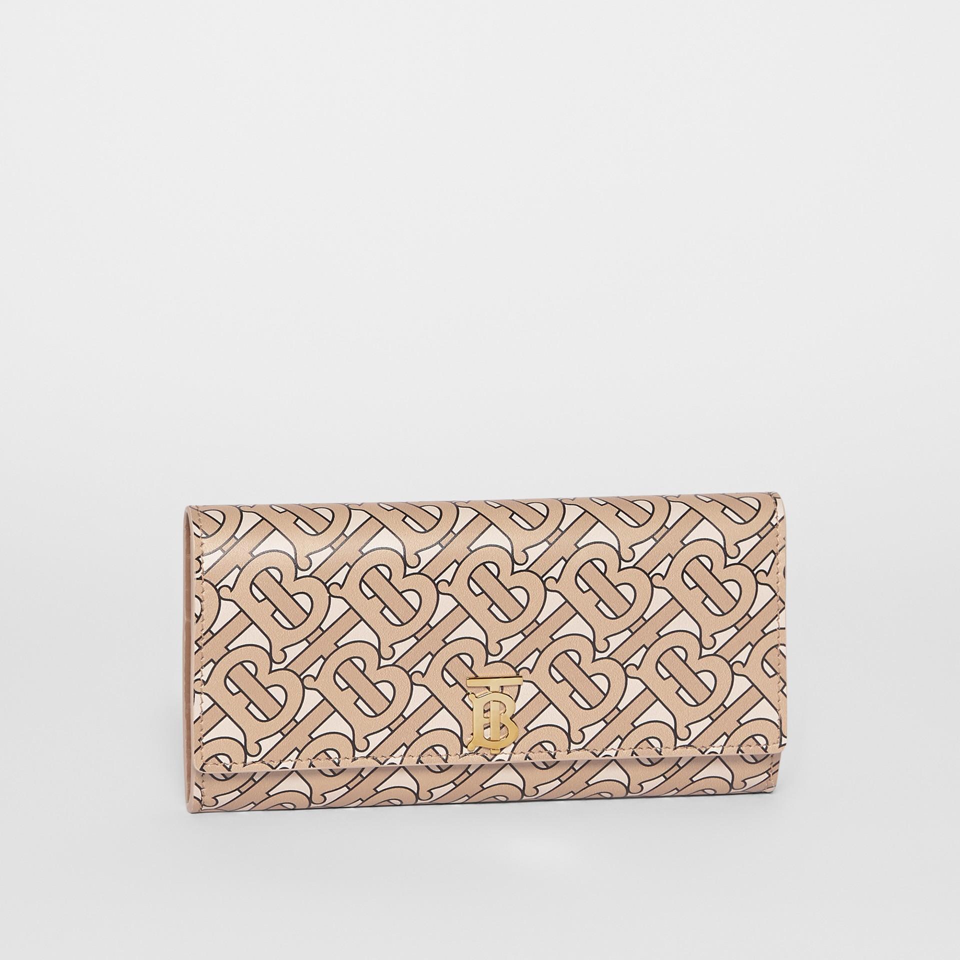 Lederbrieftasche mit Monogrammmuster (Beige) - Damen | Burberry - Galerie-Bild 4