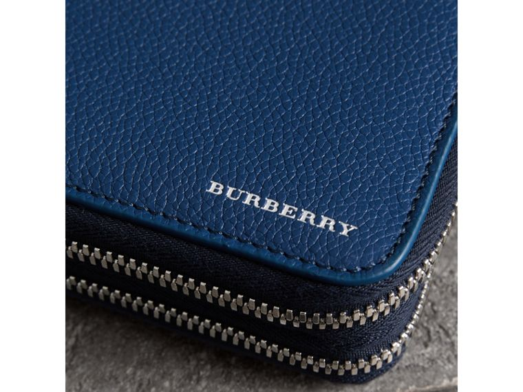 Grainy Leather Travel Wallet in Bright Ultramarine - Men | Burberry - cell image 1