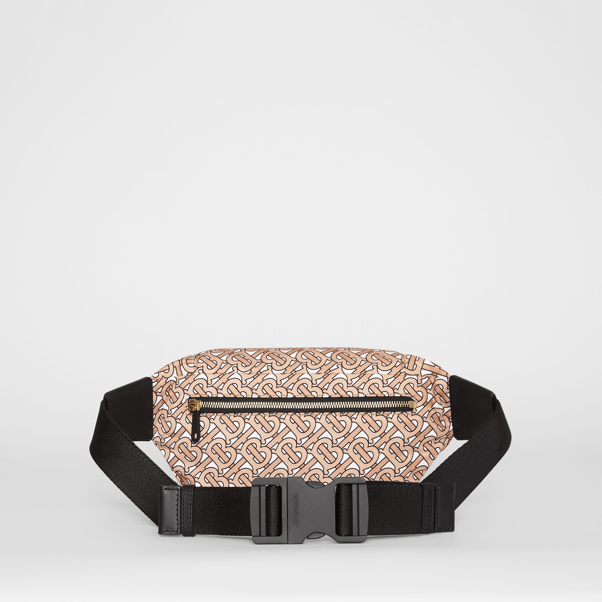 Medium Monogram Print Bum Bag in Beige | Burberry Canada - gallery image 9