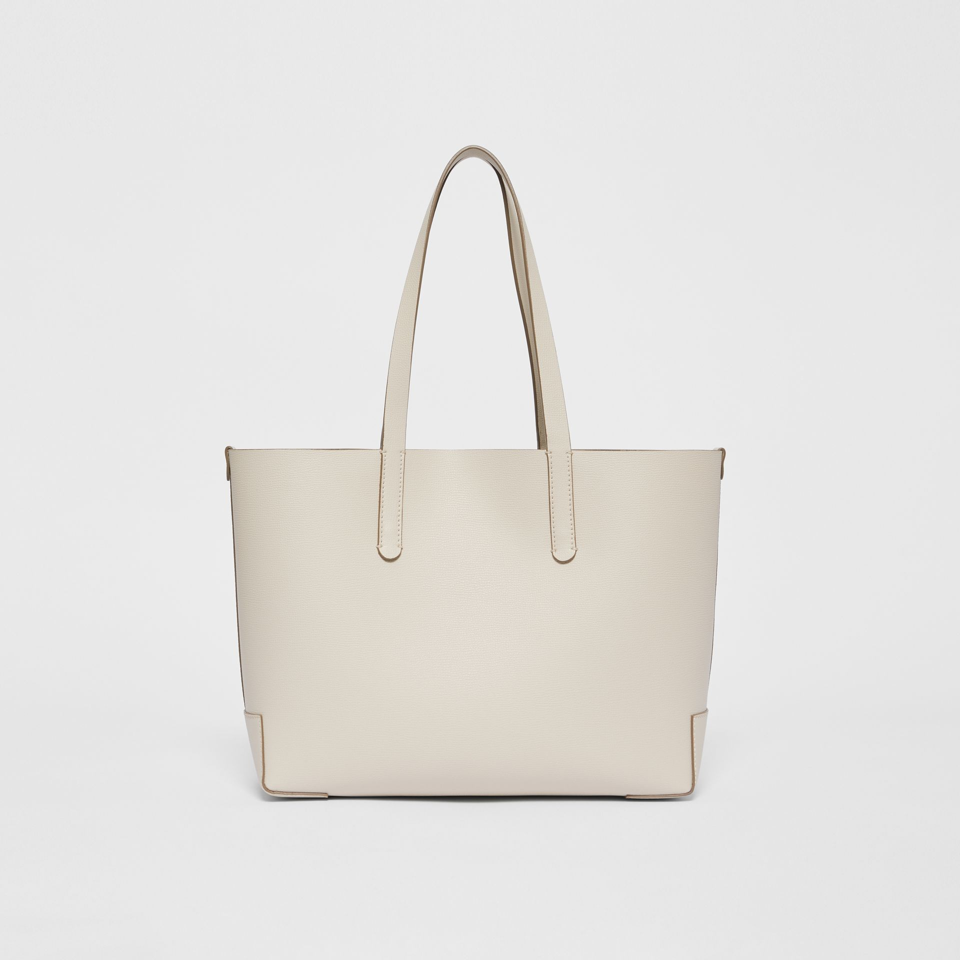 Embossed Monogram Motif Leather Tote in Limestone - Women | Burberry - gallery image 7