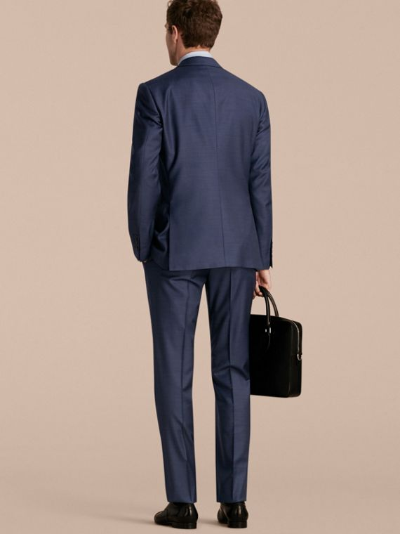 Modern Fit Travel Tailoring Sharkskin Wool Three-piece Suit - cell image 2