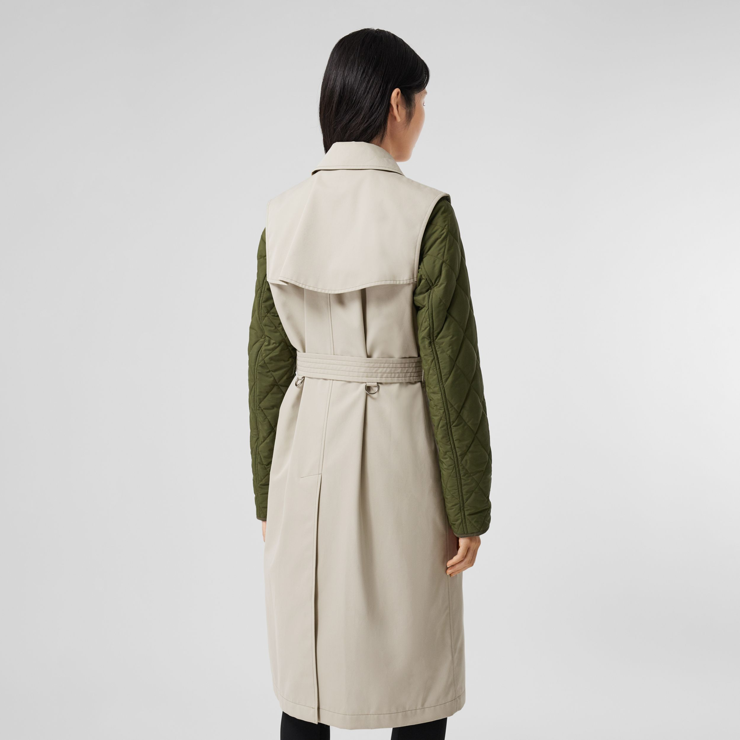 Sleeveless Trench Coat with Detachable Warmer in Stone - Women | Burberry - 3