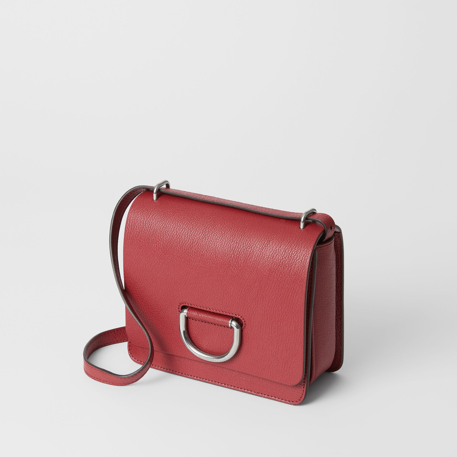 The Small Leather D-ring Bag in Crimson - Women | Burberry United Kingdom - gallery image 3