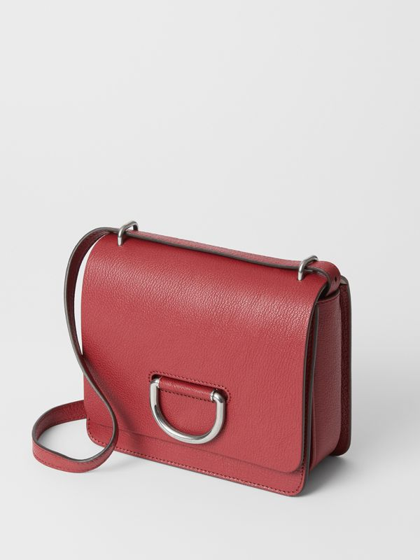 The Small Leather D-ring Bag in Crimson - Women | Burberry Singapore - cell image 3