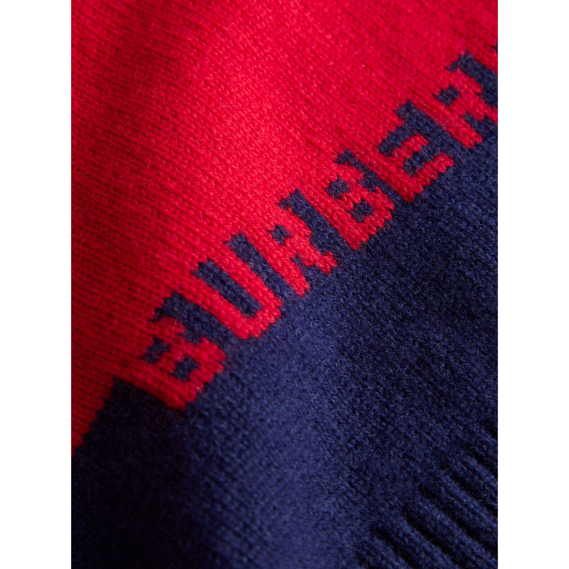 Logo Intarsia Cashmere Sweater in Bright Red - Children | Burberry United Kingdom - gallery image 1