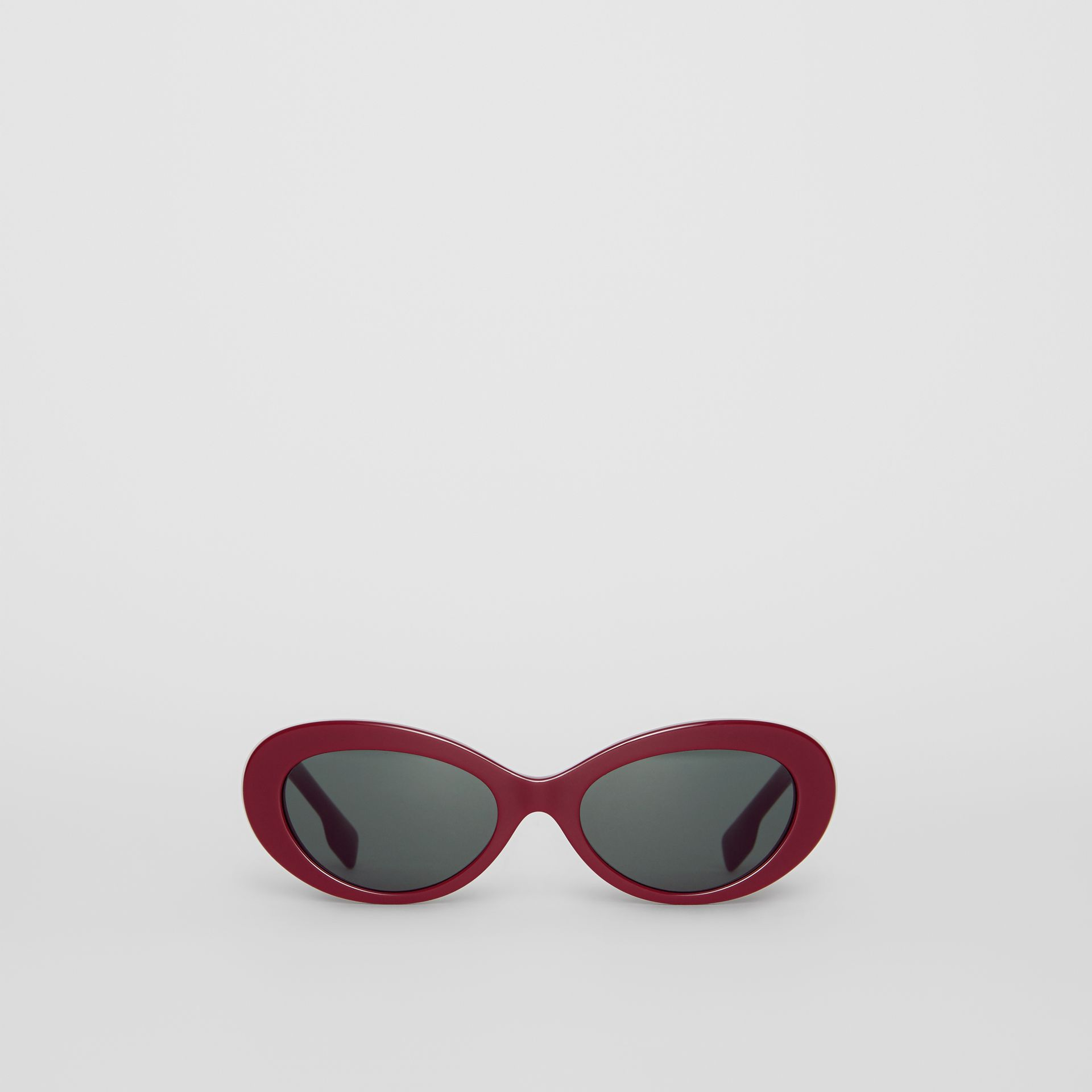 Cat-eye Frame Sunglasses in Burgundy - Women | Burberry United Kingdom - gallery image 0