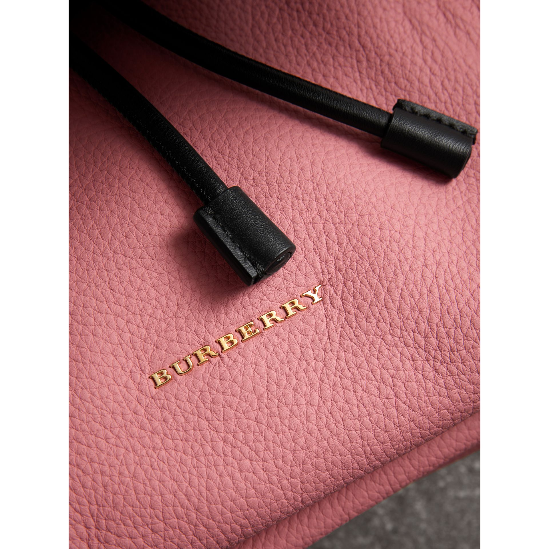 The Medium Rucksack in Deerskin with Resin Chain in Blossom Pink - Women | Burberry Australia - gallery image 1