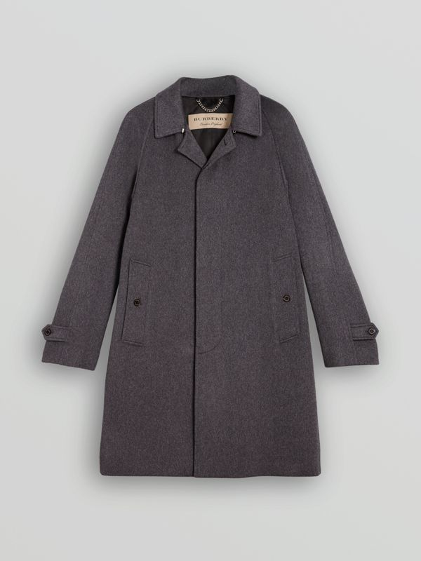 Car coat de cashmere (Azul Estanho Mesclado) - Homens | Burberry - cell image 3