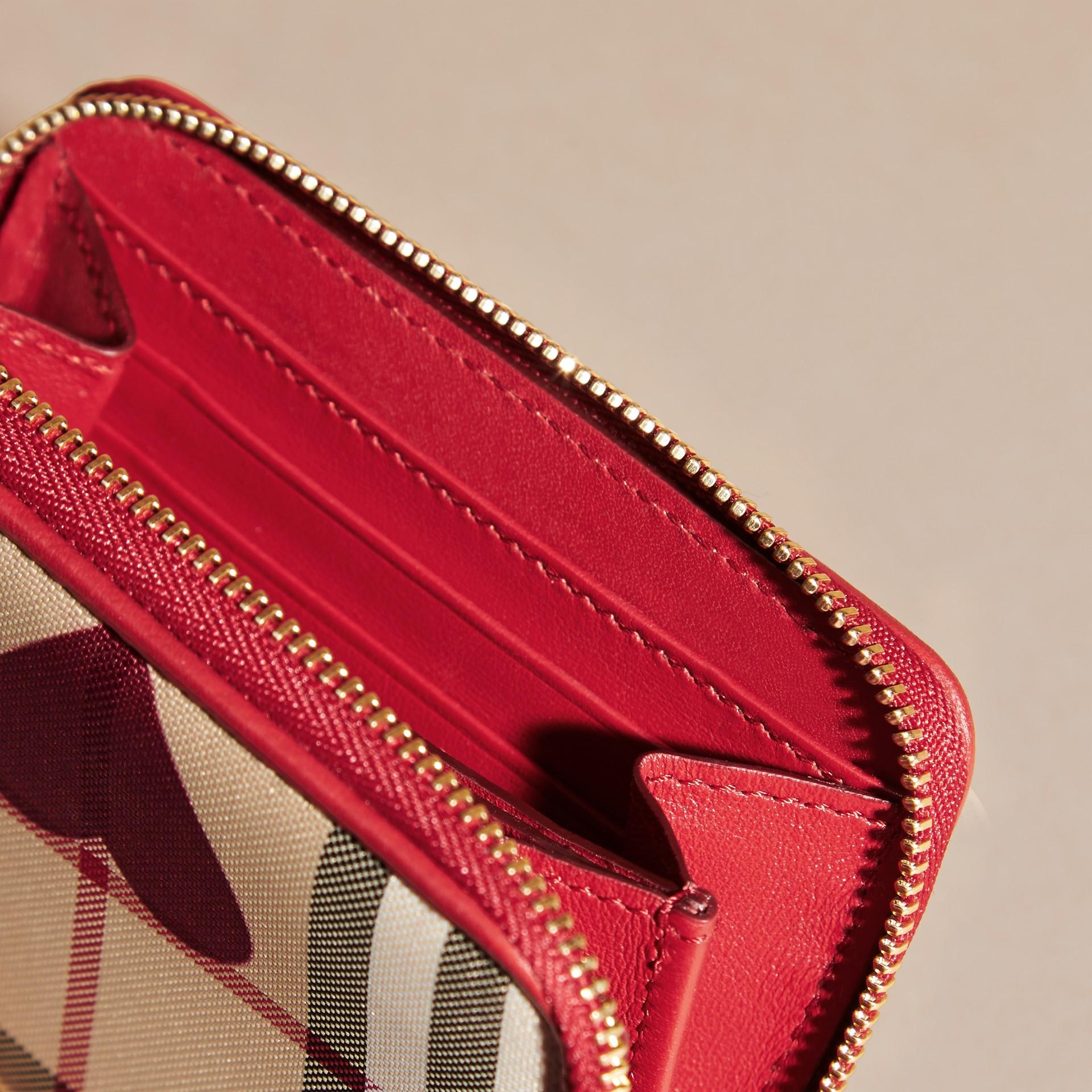 Парадный красный Бумажник в клетку с принтом «сердечки» Парадный Красный - изображение 5
