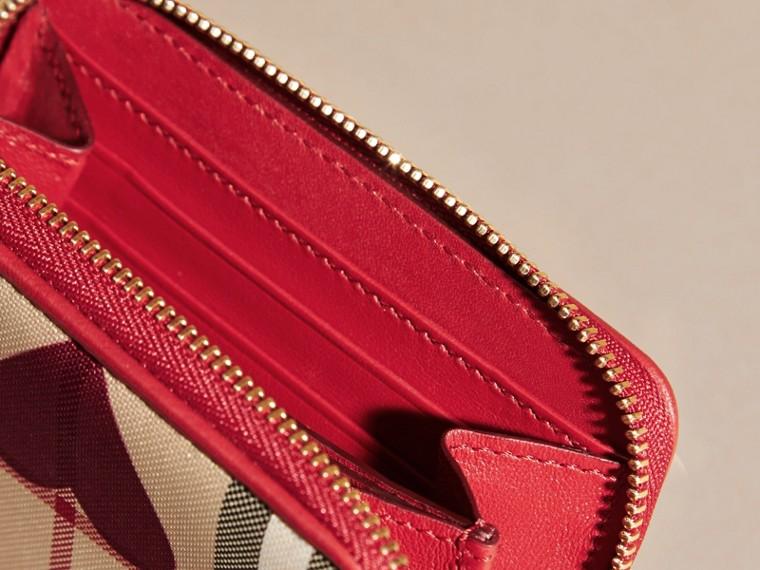 Парадный красный Бумажник в клетку с принтом «сердечки» Парадный Красный - cell image 4