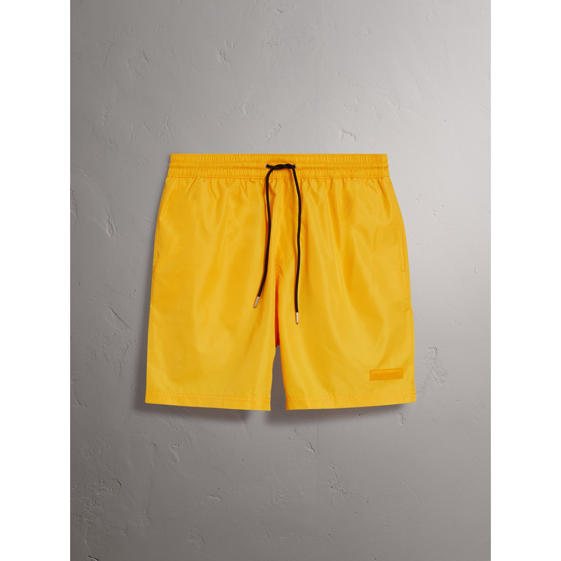 Drawcord Swim Shorts in Bright Yellow - Men | Burberry Australia - gallery image 1