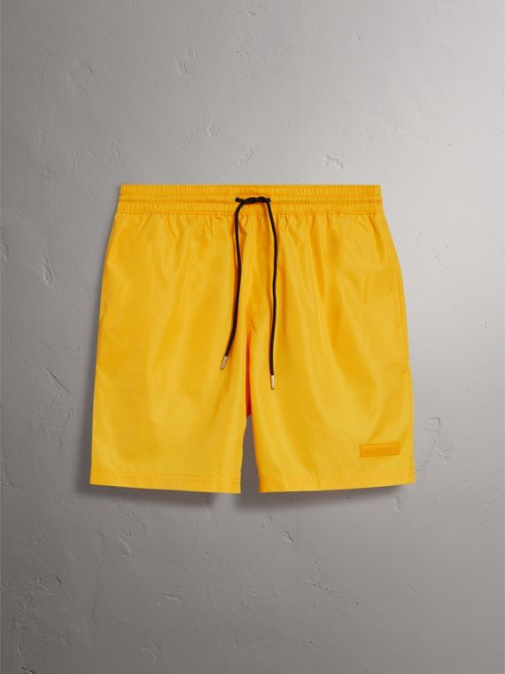 Drawcord Swim Shorts in Bright Yellow
