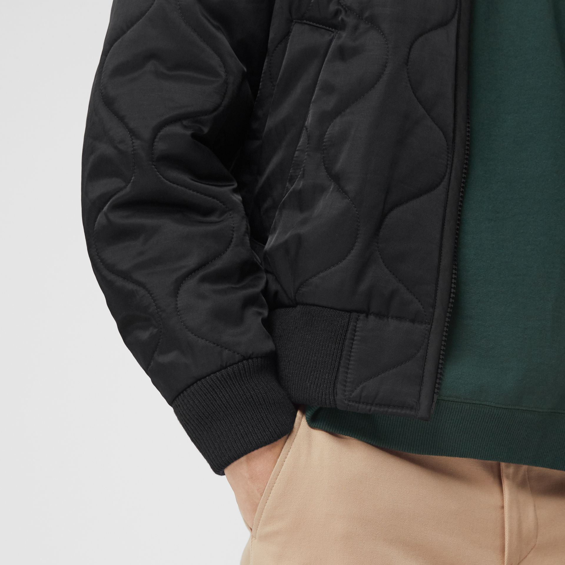 Quilted Bomber Jacket in Black - Men | Burberry - gallery image 4