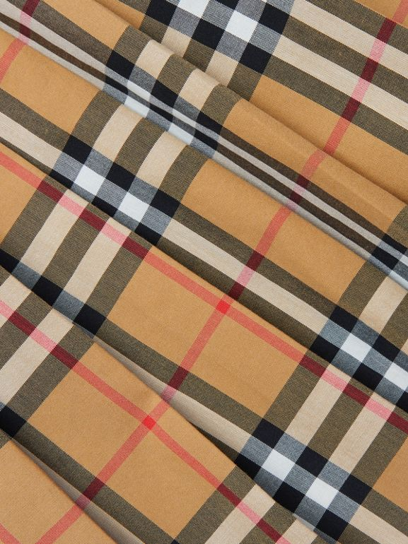 Gonna a pieghe con motivo Vintage check (Giallo Antico) | Burberry - cell image 1
