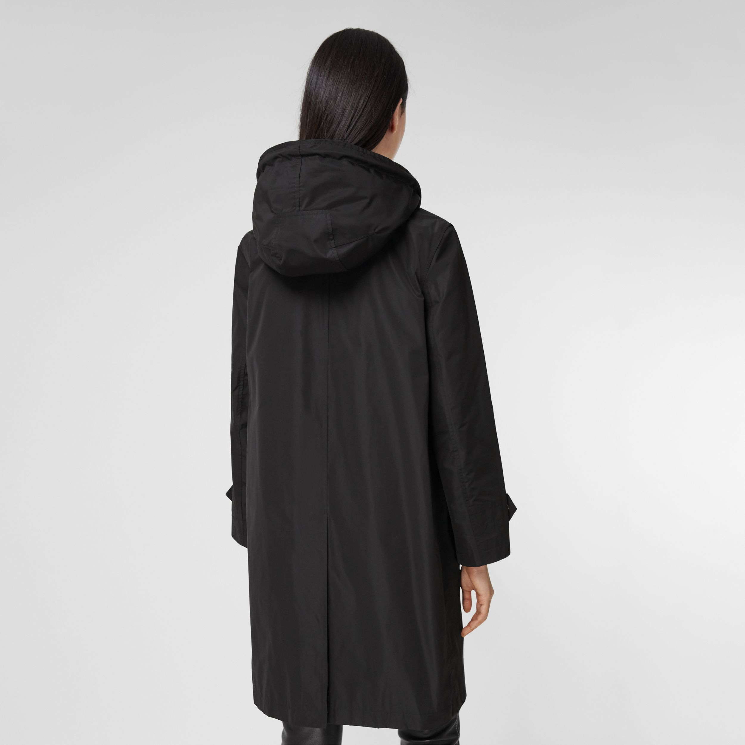 Detachable Hood Shape-memory Taffeta Car Coat in Black - Women | Burberry Australia - 3