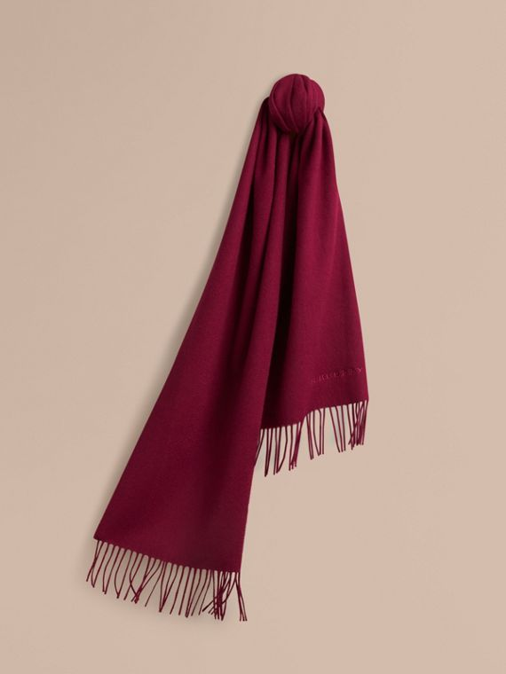 The Classic Cashmere Scarf in Plum | Burberry