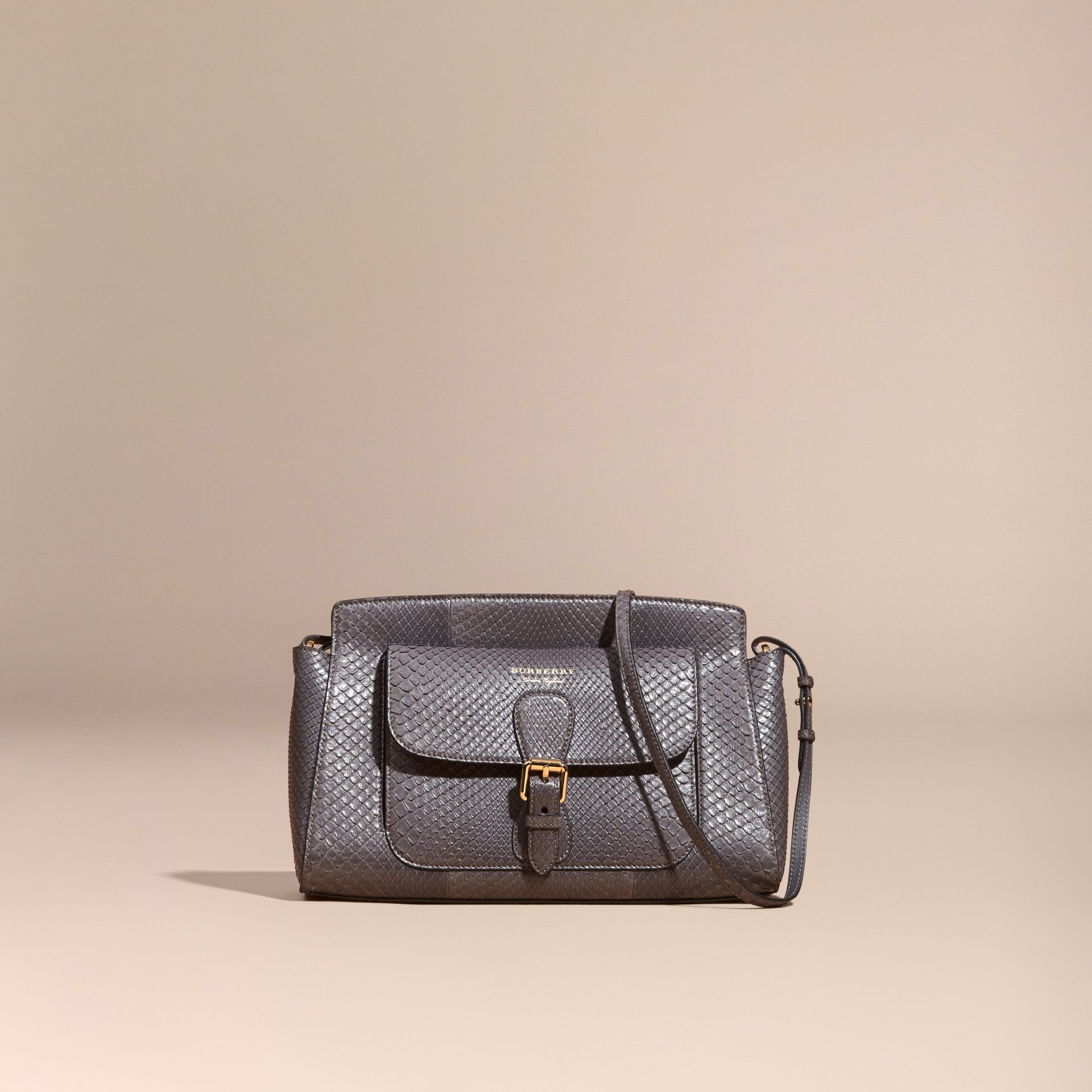 Sepia grey The Saddle Clutch in Python - gallery image 9